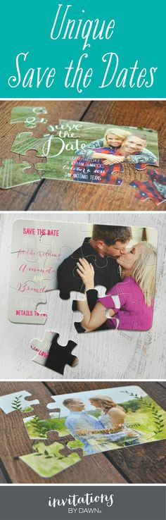Send a Save the Date your guests will love. Puzzles, postcards, magnet and more.