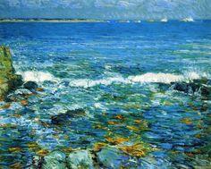 Frederick Childe Hassam >> Duck Island from Appledore