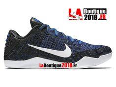 separation shoes e52d5 10e73 Nike Kobe 11 Elite Low Mark Parker Muse Bleu Noir 822675-014 Chaussure  Basket Pas Cher Pour Homme-1806081550
