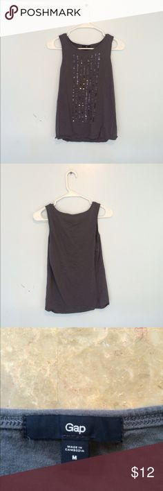 Gap tank top I've only worn this once, great condition! Purplish blue/gray color GAP Tops Tank Tops
