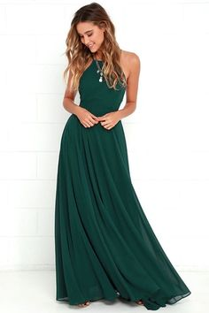 Mythical Kind of Love Dark Green Maxi Dress 6 - ONLY 66 dollars!!
