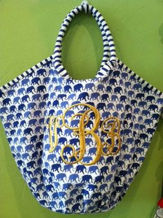 we love Roberta Roller Rabbit and we love monogramming items in thick gold metallic thread.  yummy !!!