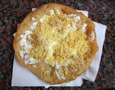 Lovely Langos pastries in Hungary, yum!