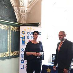 Eröffnung der Europa-Beratung mit dem Oberbürgermeister der Hansestadt Stralsund Dr.-Ing. Alexander Badrow. #EIZRostock #EDIC-MV #Stralsund #europavorort #europeanparlament #europe #EU #flyingoffice