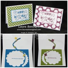 Spiral Flower Pop Out Card - Laura's Stamp Pad Spiral Flower Die, Age Awareness Stampin' Up Stamp Set, Sweet Taffy Designer Series Paper, Itty Bitty Punch Pack www.LaurasStampPad.com