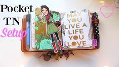 Foxy Fix Pocket Wide Travelers Notebook Setup || Oct. 6th, 2016