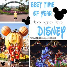Best Time of Year to go to Disney World: time of year, what age is best, how long should you stay, deals, should you stay at a Disney hotel, and more! #disney #disneyworld #familyvacation