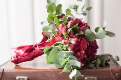 Great Wedding Flowers in red and green by Williams & Gauld