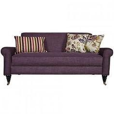 angelo:HOME : Harlow II Sofa in Purple Grape Twill with Modern Vintage...