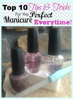 At Home Nail Tips for a DIY Manicure or Pedicure! Great tips for Valentine's Day!