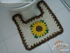 Tapete do Vaso - Jogo de Banheiro Crochê Girassol
