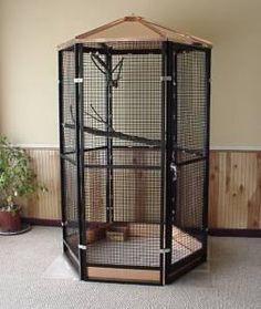 4' Hexagon Walk-in Aviary - Cheek's Custom Cages