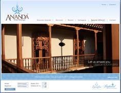 Sitio web para hotel boutique ANANDÁ en #Cartagena - Año: ©2008