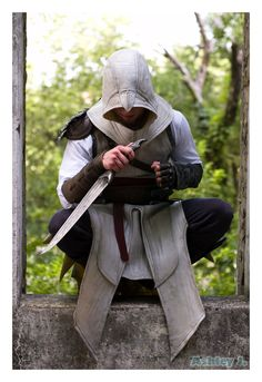 The Assassin by CoughffinKnail on DeviantArt Assassins Creed Quotes, Assassins Creed Costume, Assassin's Creed Hidden Blade, Assessin Creed, Assassin's Creed Wallpaper, Mandalorian Armor, Cyberpunk Character, Best Cosplay, Anime Cosplay