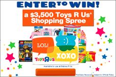 Check it out!  Enter to win a $3,500 Toys-R-Us Shopping Spree!  #toys #contest #lawsaid #toysrus