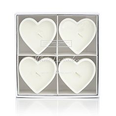 White Lavender Heart-Shaped Tealights - Set of 4 White Company Candles, The White Company, Scented Tea Lights, Scented Candles, Fall Candles, Tea Light Candles, Lavender Scent, Home Fragrances, Xmas Gifts