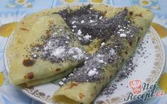 Bramborové lokše nasladko   NejRecept.cz Crepes And Waffles, Main Meals, Sweet Recipes, Kefir, Food And Drink, Favorite Recipes, Snacks, Vegan, Dishes