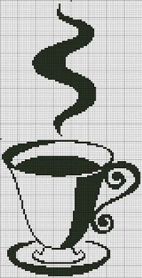 Ponto cruz: Vai um cafezinho aí?!