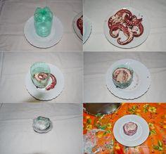 Carpaccio di polpo-ricetta con foto dei passaggi Mousse, Plates, Tableware, Chicken, Licence Plates, Dishes, Dinnerware, Griddles, Tablewares