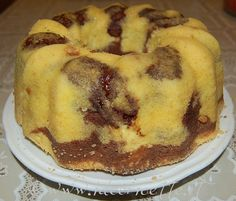 Ciambellone pere, cacao e nutella cotto Nutella, Cacao, Cooking, Breakfast, Desserts, Recipes, Oven, Love, Kitchen