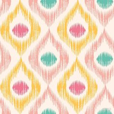 Retro ikat pattern vector image on VectorStock Ethnic Patterns, Line Patterns, Textile Patterns, Textile Prints, Ikat Pattern, Pattern Art, Pattern Design, Indian Embroidery Designs, Cool New Gadgets