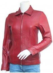 Smart Fit Cherish Maroon Leather Jacket Women