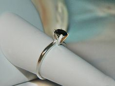 Black diamond promise ring by JewelrybyDecember67 on Etsy, $49.00