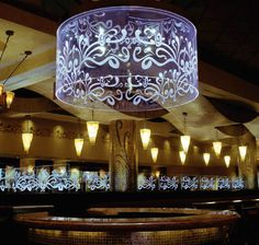 Custom Etched Glass Pendent Lighting