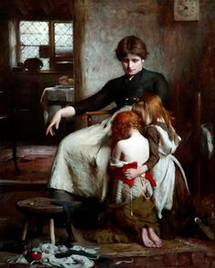 Arthur HACKER The Children's Prayer 1888
