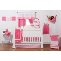Let the simple side of Simplicity Hot Pink bring out the sweetness in your little girl's room.  Beautiful hues of pink with white throughout make the most of this conveniently machine washable set, perfect for your tiny princess.
