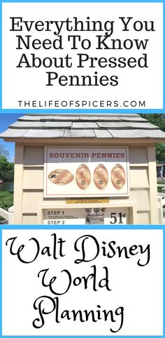 everything you need to know about collecting pressed pennies at Walt Disney World #wdw #waltdisneyworld #pressedpennies