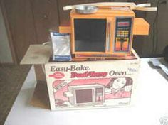 This is like the Easy Bake Oven that I had. Still have a fondness for mini cakes.