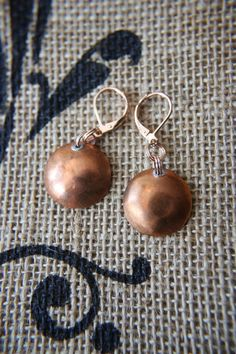 Hand Hammered Penny Earings by artistrybyannie on Etsy, $15.00