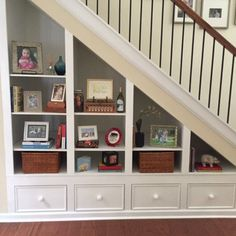 Image result for clever under stairs bookcase