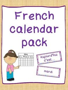 Pack includes: Days of the week, Months of the year Poster, Seasons (all on one) Posters, Seasons (one per season) Poster | by Primary French Immersion