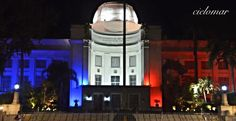 Philippine Icons (Cebu Provincial Capitol) lights up in French colours for Paris