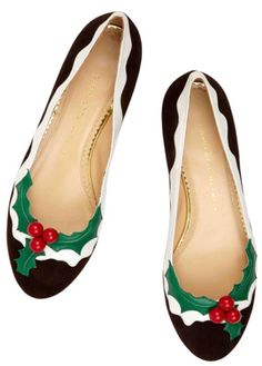 Charlotte Olympia Holly flats - Christmas Collection