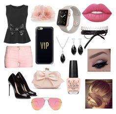 """""""Love"""" by isabella-navarro23 on Polyvore featuring beauty, WearAll, Boohoo, H&M, Quay, Casetify, Fallon, Lime Crime and OPI"""
