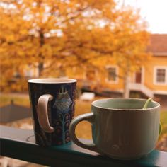 a cuppa outside on a cool autumn day