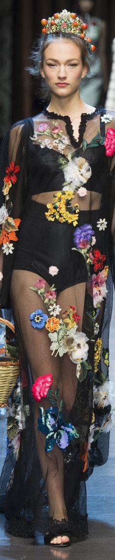 ♔Return To Flowers♔ - Dolce & Gabbana Spring 2016 RTW