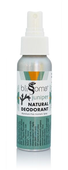 Juniper Natural Deodorant Aromatic Spray by Blissoma