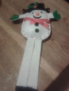Childrens felt snowman kit