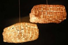 """""""Saiun"""" (natural) and """"Zuiun"""" (pink) hanging ceiling lamps/pendants made by Japanese lighting"""
