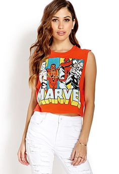 Marvel Comics Muscle Tee | FOREVER21 - 2000127468  Forever 21 has a lot of cute nerdy fashionable shirts.