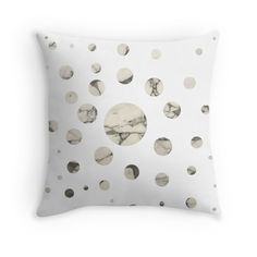 'Marble dots I.' Throw Pillow by RMBlanik