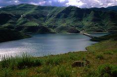 Katse Dam Bridge, Lesotho highlands.