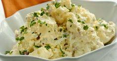 Como hacer la Ensalada de patata americana clasica, con patatas rosadas, huevo, mayonesa y prejil. Receta de Ensalada de patata americana.