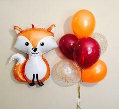 PERFECTA decoración para alguien que ama a zorros y para una fiesta temática de bebé bosque :) Listado incluye: 36 pulgadas globo de Fox que está empaquetado individualmente y necesita helio y puede ser llenado en cualquier partido/supermercado Opción de agregar conjunto de Latex 6