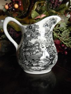 Clarice Cliff Black Transferware Tonquin Pattern