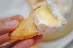 Lemon Meringue Pie Dip - and you dip it with PIE CRUST DIPPERS.
